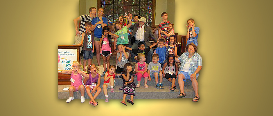 Having fun at 2014 Vacation Bible School