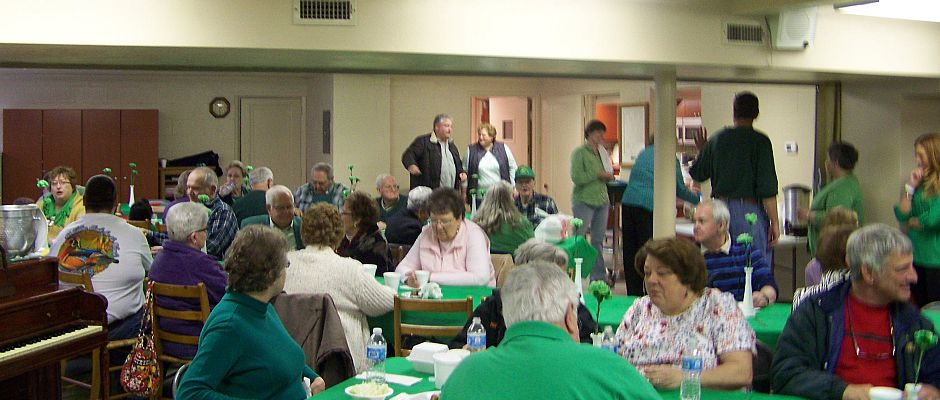 Plattsburg UCC celebrating St. Patrick's Day
